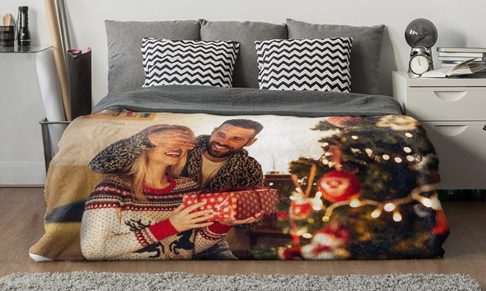Custom Faux-Mink Plush Photo Blankets with Custom Text (Up to 93% Off)