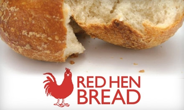 Red Hen Bread - Multiple Locations: $5 for $10 Worth of Fresh-Baked Bread, Sandwiches, Coffee, and More at Red Hen Bread