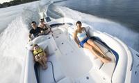 Location de bateau sans permis pour 2 ou 4 personnes ou 30min de Flyboard pour 1 personne dès 49,90 € avec Liceberg Jet
