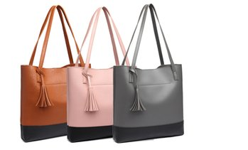Tassel Top-Handle Tote Bag