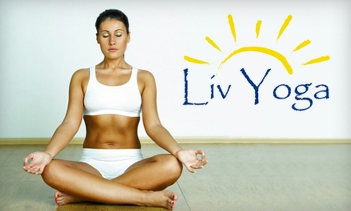 Liv Yoga - Highland II: $50 for 10-Class Punch Card for Hot Yoga at Liv Yoga in Bellevue ($100 Value)