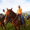 Passeggiata a cavallo nel verde