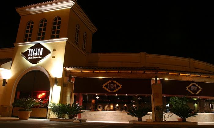 Tucson Steak House & Bar - Múltiples sucursales: Desde $699 por almuerzo o cena de 3 pasos para dos o cuatro + bebida con refill en Tucson: Steak House & Bar