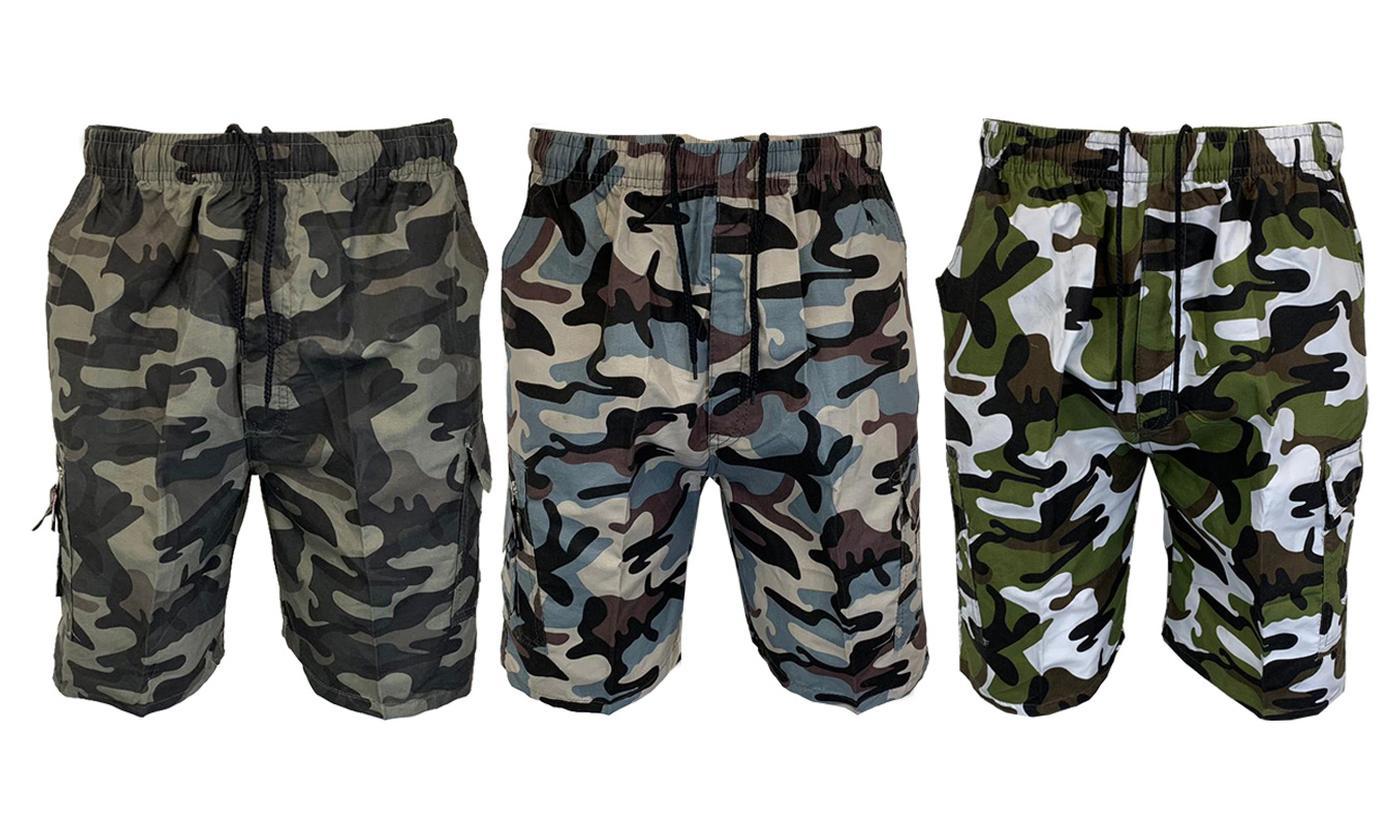 Men's Combat Knee-Long Cargo Shorts