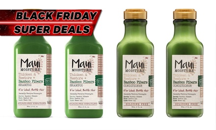$29 for Four-Piece Set of Maui Moisture Thicken and Restore + Bamboo Fibers Shampoo and Conditioner (Don't Pay $88)