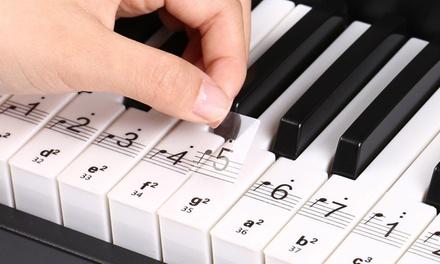 88-Key Universal Keyboard Learner Sticker Set: One ($9.95) or Two ($15)