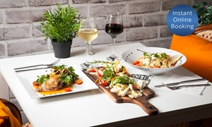 The French Bistrot: 2-Course French Lunch or Dinner + Glass of Wine for 2 ($59) or 4 People ($118) at The French Bistrot (Up to $260 Value)