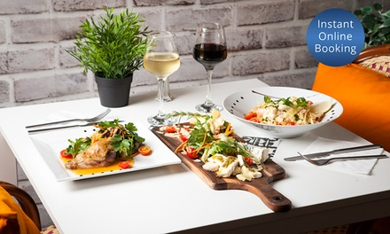 2 Course French Lunch or Dinner + Glass of Wine for 2 ($59) or 4 People ($118) at The French Bistrot (Up to $260 Value)