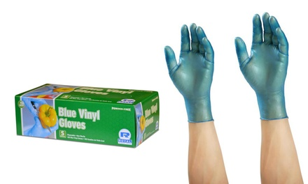 Non-Medical Disposable Blue Vinyl Gloves (Medium, Large and X-Large) 100-Pack