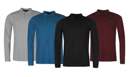 One £12.95 or Two £23.99 Pierre Cardin LongSleeved Polo Shirt
