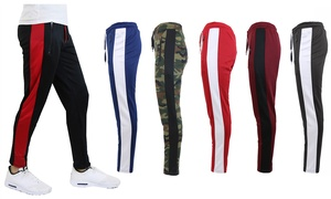 702fc5d27623f3 Galaxy By Harvic Men s Active Moisture-Wicking Striped Joggers