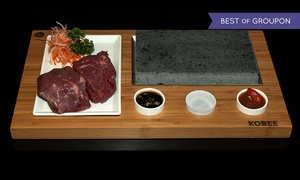 Kobee: Choice of Steak Meal Cooked on Marble Stone at Kobee