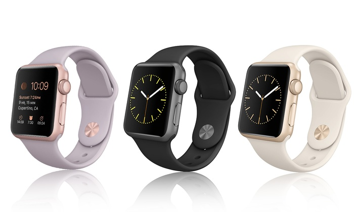 Apple Watch Sport 38mm or 42mm Smart Watch with Optional Stainless Steel Case (Refurbished)
