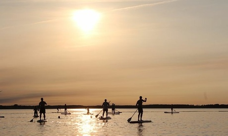 Alquiler de 1 o 2 horas de paddle surf para 2 o 4 personas desde 12 € en Motos de Agua Poniente Oferta en Groupon
