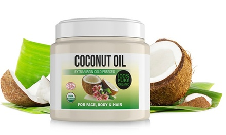 1x, 2x oder 3x 100% kaltgepresstes Kokosnuss-Öl