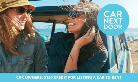 Rent Out Your Car, Earn Cash! $150 Bonus Income for Listing Your Car on Neighbourly Car Sharing Platform Car Next Door