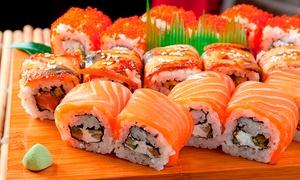 Jikan Sushi: Tabla all salmón de 30 o 60 piezas take away o delivery con Jikan Sushi