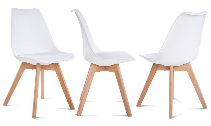 Mesa extensible con sillas groupon for Mesa extensible con sillas