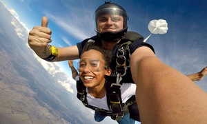 Adrenalin Skydive Goulburn: $185 (+$37 APF Levy and CI Charges) for Tandem Skydive Up to 15,000ft for One Person with Adrenalin Skydive Goulburn