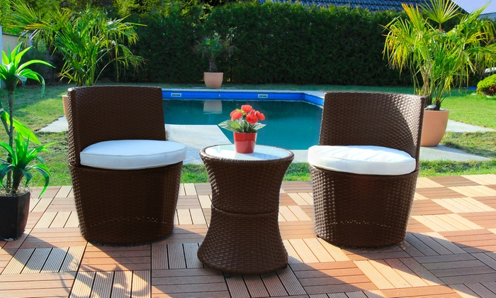 Swing & Harmony Rattan-Effect Bali Lounge Set