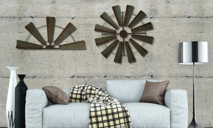 Farmhouse Rustic Windmill Wall Decor Groupon