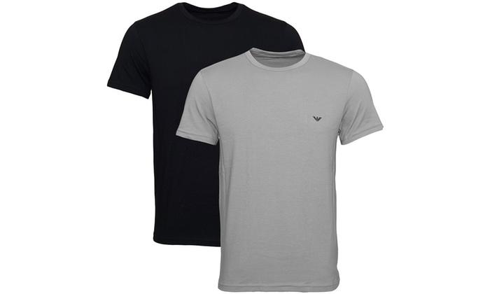 db2835eabd7f36 jusqu à 16% Pack 1 2 T-Shirts Armani   Groupon
