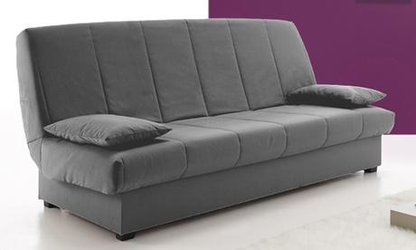 Sofá cama con arcón de almacenaje y apertura clic-clac Oferta en Groupon