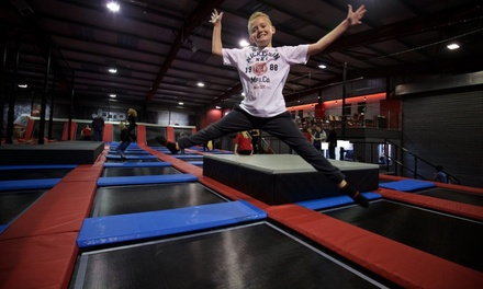 One-Hour Trampoline Jump Session for Up to Four at Jump Division