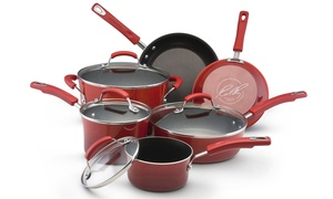 Rachael Ray Nonstick Enamel Cookware (10-Piece)