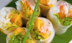 Lila Vietnam fine cuisine: Veganes vietnamesisches 2-Gänge-Menü à la carte für 2 oder 4 Personen bei Lila Vietnam fine cuisine (bis zu 37% sparen*)