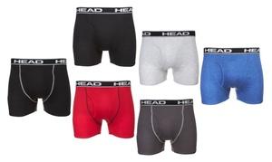 Head Men's Cotton Boxer Briefs (6-Pack)