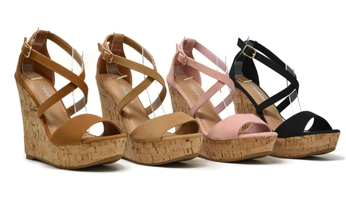 31d0a36a649 Mata Women s Adjustable-Ankle-Strap Wedge-Platform Sandals