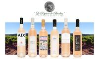 """Sélection de 6 bouteilles """"Sélection découverte vins rosés 2015"""" à commander sur le site Le Repaire de Bacchus à 29,95 €"""