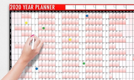 Up to Three Laminated 2020 Year Wall Planners with Pen