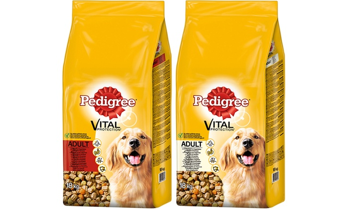 Groupon Goods Global GmbH: Pedigree Vital Protection Complete Dry Adult Dog Food 18kg