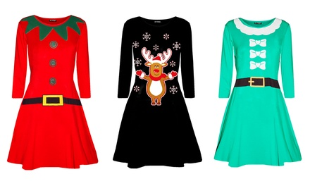 Be Jealous Mini Swing Christmas Dress