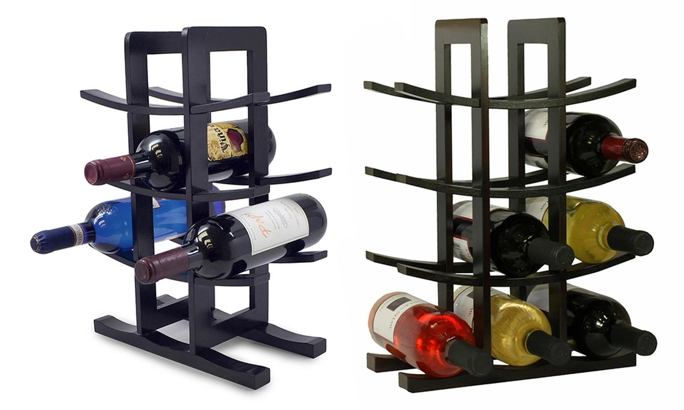 One or Two Bamboo Wine Racks