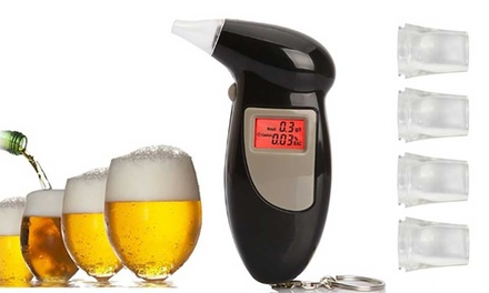 One or Two Portable Pocket Alcohol Breathalysers
