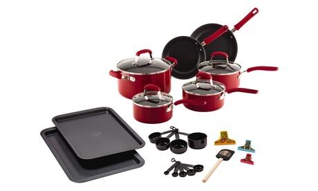 Guy Fieri Nonstick Aluminum Cookware Set (25-Piece) 41993f9a-feaa-11e6-b335-00259060b5da