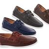 Franco Vanucci Men's Woven Boat Shoes