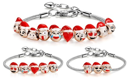 Christmas Emoji Charm Bracelets from AED 49 (Up to 25% Off)