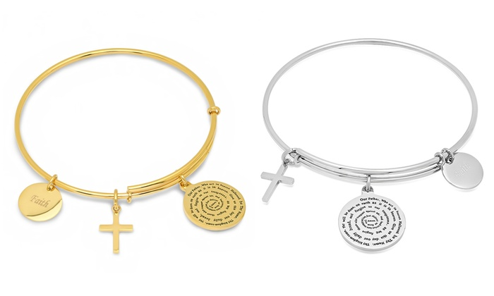 756bfa0652385 Up To 33% Off on Stainless Steel Charm Bracelet   Groupon Goods