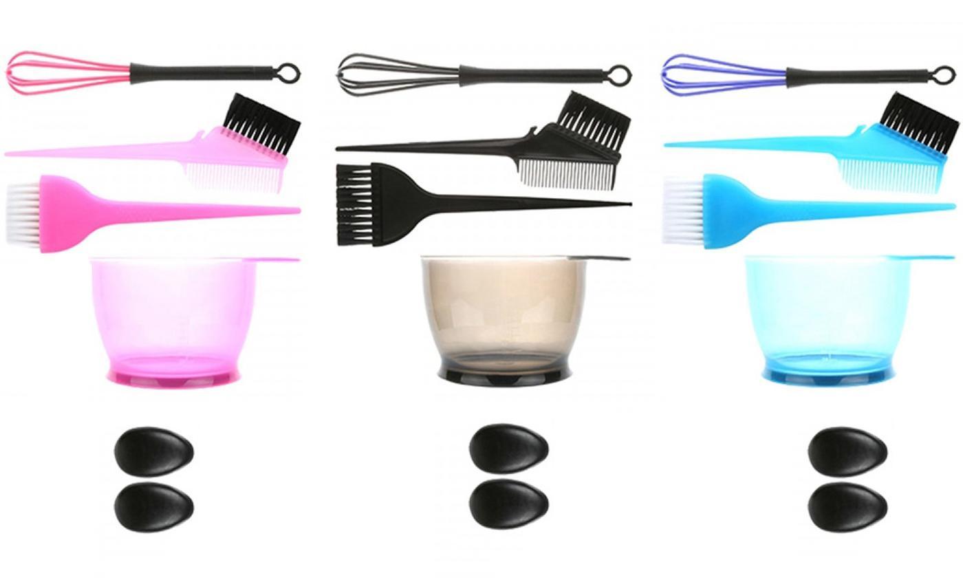 Five-Piece Hair Brush Bowl Set