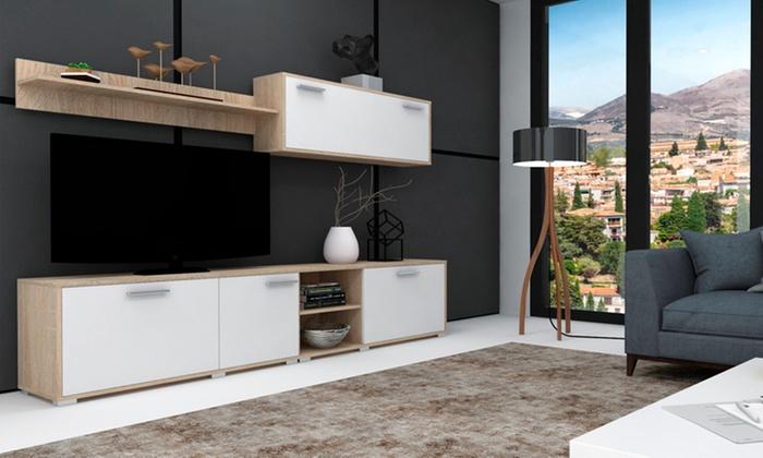 4 tlg wohnzimmer m bel set groupon goods. Black Bedroom Furniture Sets. Home Design Ideas