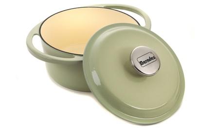 Berndes 1504101 Round Cast Iron 2.4 Litre Casserole Dish with Lid