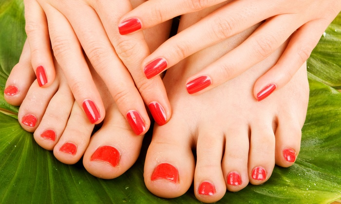 Aye Salon & Spa - Elk Grove: $24.25 for a Mani-Pedi Package at Aye Salon & Spa ($42 Value)