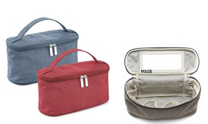 LeSac Large Cosmetic Bag with Mirror