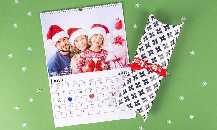 1, 3 ou 5 calendriers photo personnalisés, format A4 ou A3 avec Colorland dès 3,99 € (80% de réduction)