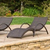 Maureen Outdoor Folding Chaise Lounge Chairs (2-Pack)
