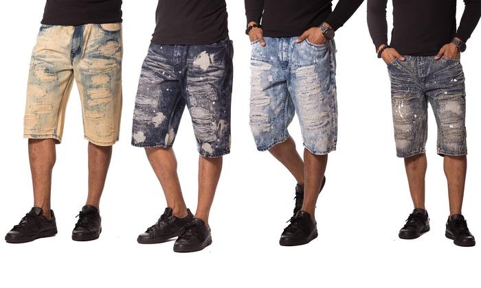 Rip and Repair Denim Shorts